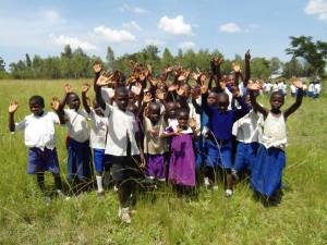Class visited the primary school where instructor Dan Nyaronga attended as a child